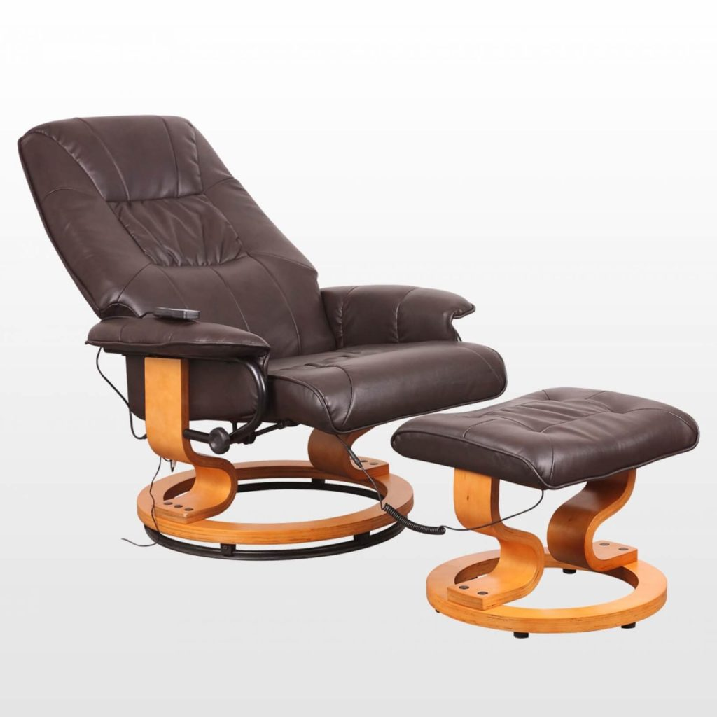 Tuscany Leather Swivel Recliner Massage Chair