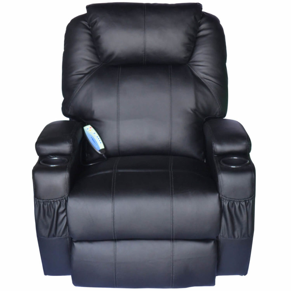 Homcom Luxury Leather Recliner Sofa Chair Armchair