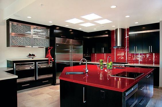 9 Gorgeous Red and Black Kitchen Ideas 4
