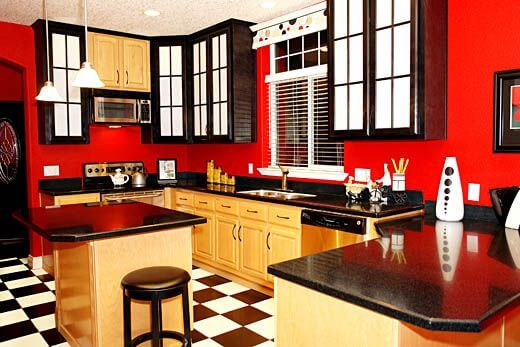 9 Gorgeous Red and Black Kitchen Ideas 8