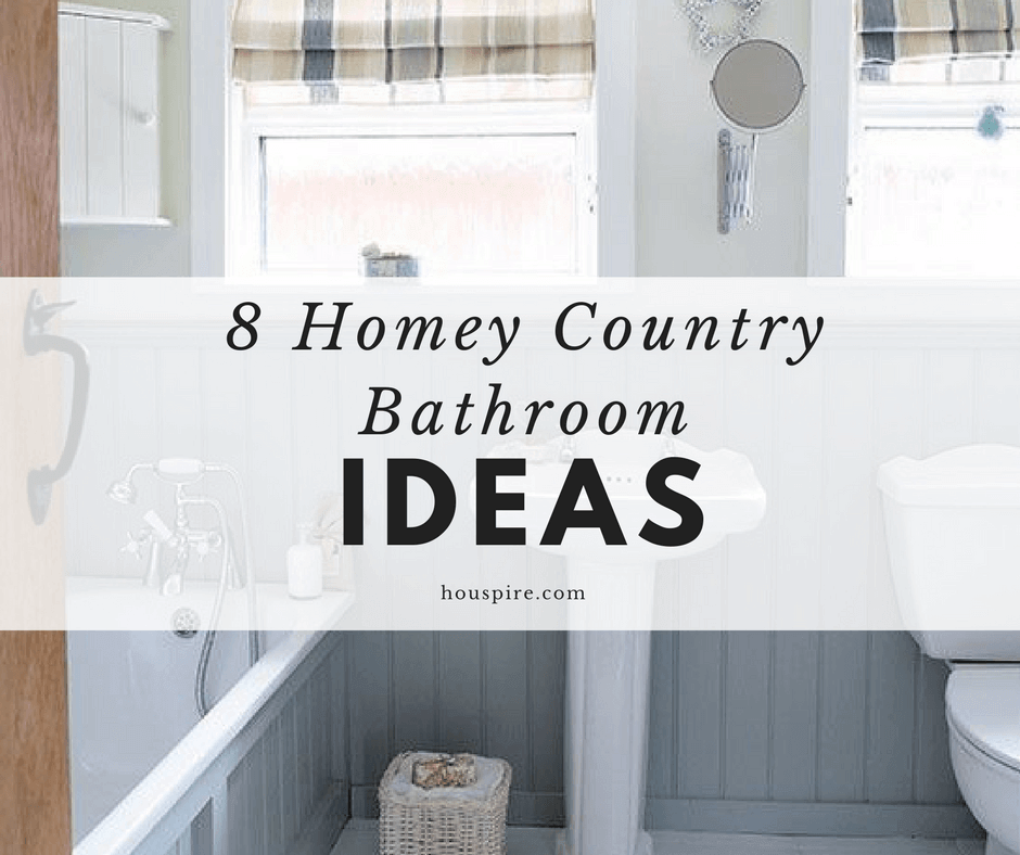 8 Homey Country Bathroom Ideas