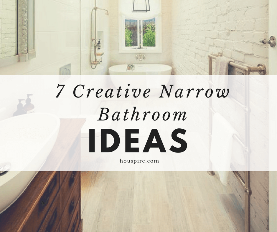 7 Creative Narrow Bathroom Ideas