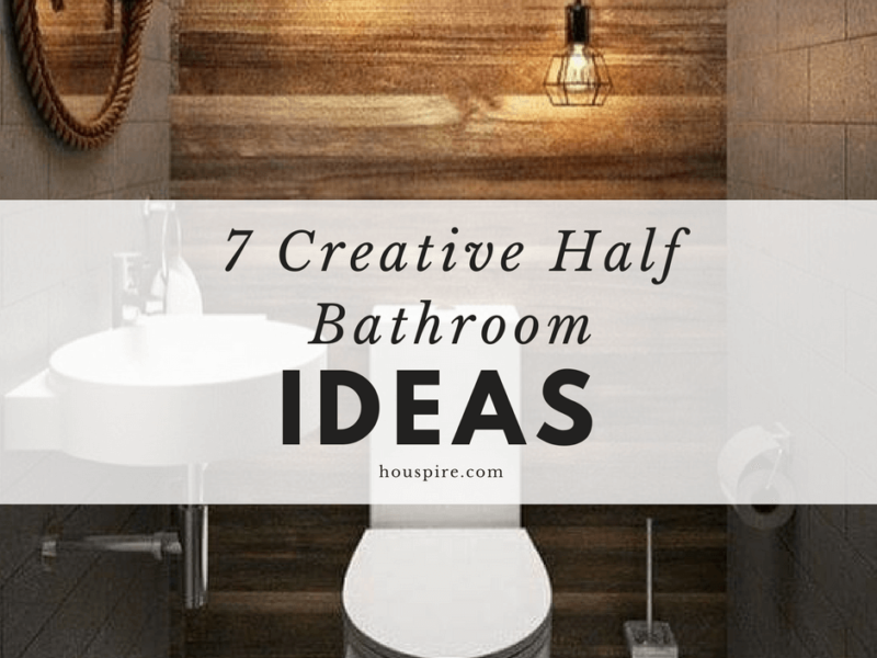 7 Creative Half Bathroom Ideas