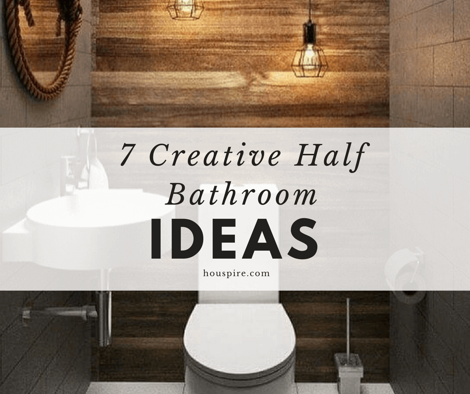 7 Creative Half Bathroom Ideas 1