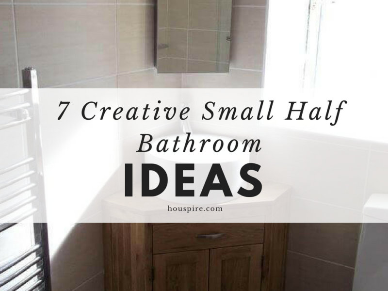 7 Creative Small Half Bathroom Ideas