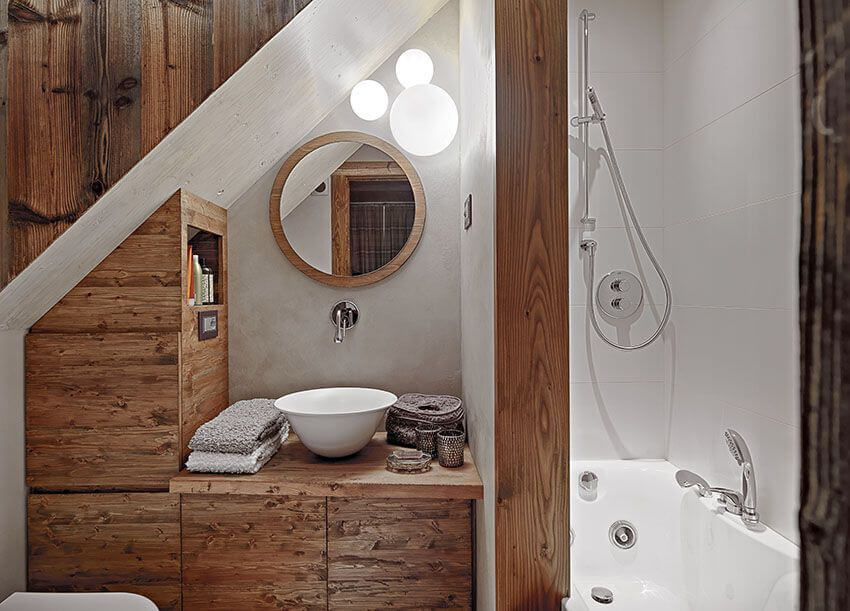 Bathroom Remodel Ideas With Inclined Ceiling 1