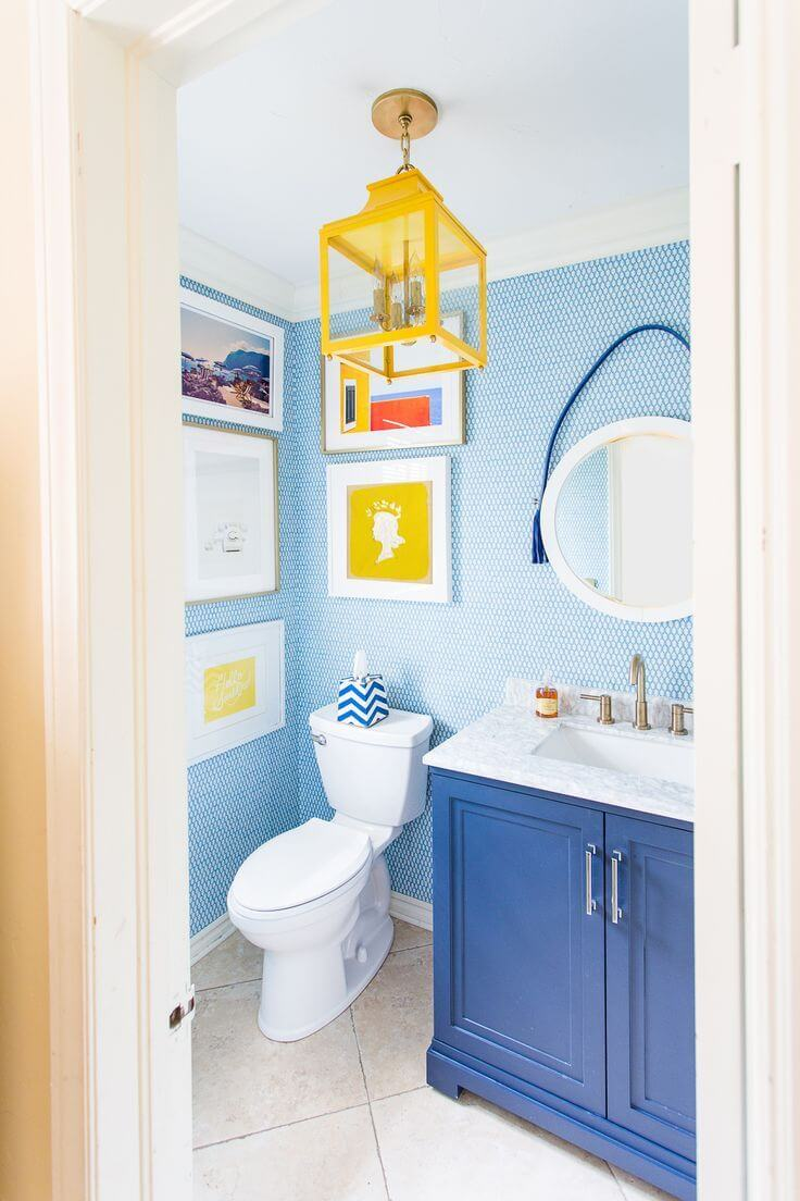 Blue And Yellow Bathroom Decorating Ideas 1