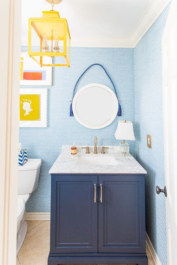 Blue And Yellow Bathroom Decorating Ideas 3