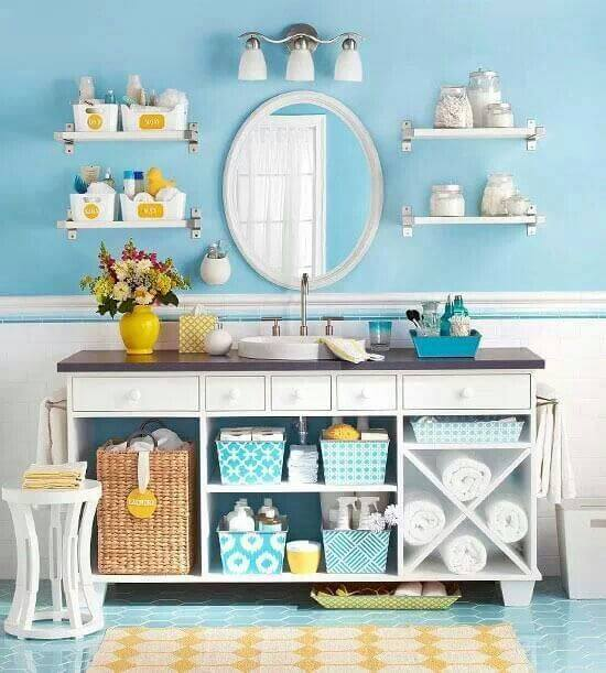 Blue And Yellow Bathroom Decorating Ideas 5