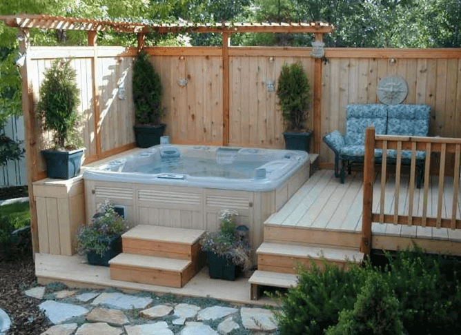 Decking Ideas With Hot Tubs 2