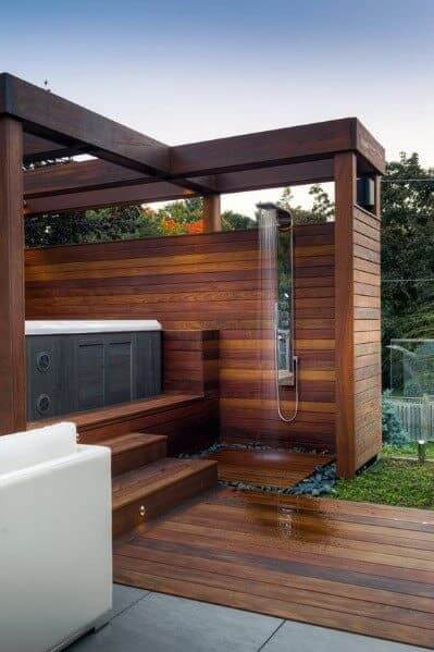 Decking Ideas With Hot Tubs 5