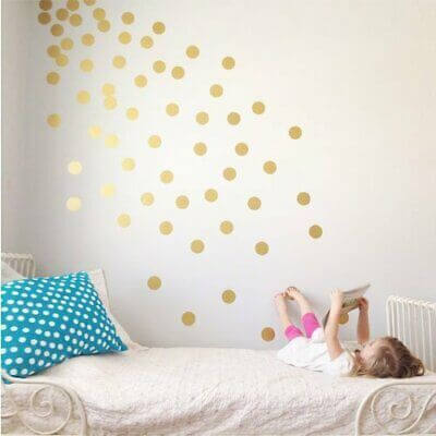 Girls Bedroom Paint Ideas With Polka Dots 1