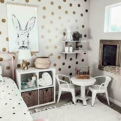 Girls Bedroom Paint Ideas With Polka Dots 2