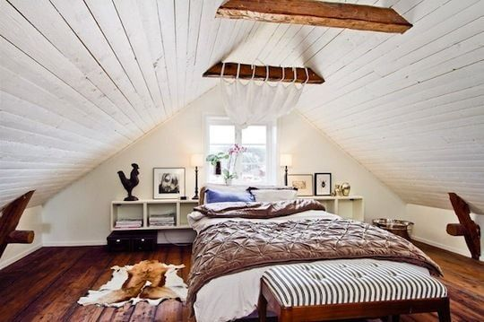 Low Vaulted Ceiling Bedroom Ideas 1