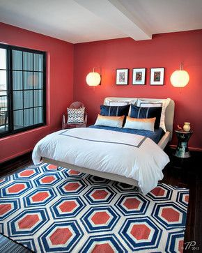 Navy Blue And Coral Bedroom Ideas 2