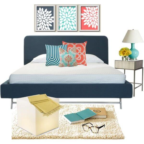 Navy Blue And Coral Bedroom Ideas 3