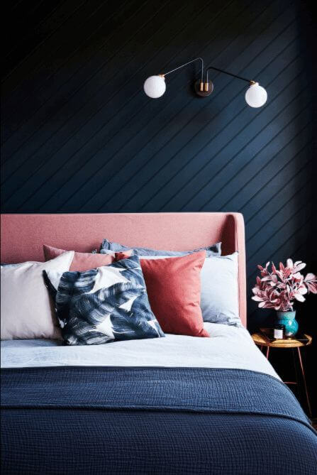Navy Blue And Coral Bedroom Ideas 5