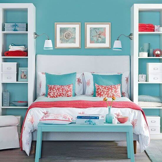 Teal And Coral Bedroom Ideas 2