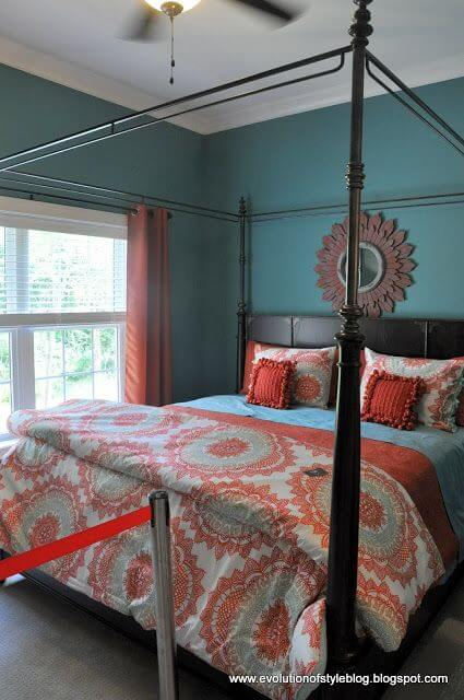 Teal And Coral Bedroom Ideas 4