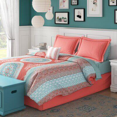 Teal And Coral Bedroom Ideas 5